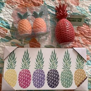 Pineapple 🍍🍍 Home Decor Bundle